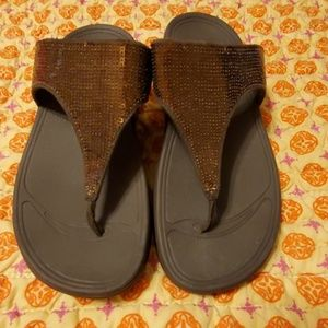 Fitflop sandals size 7 brown nwot